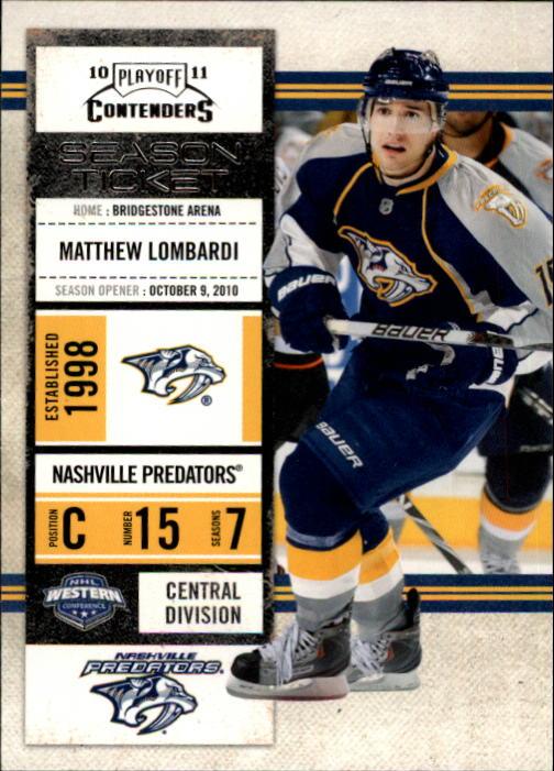 2010-11 Playoff Contenders #11 Matthew Lombardi