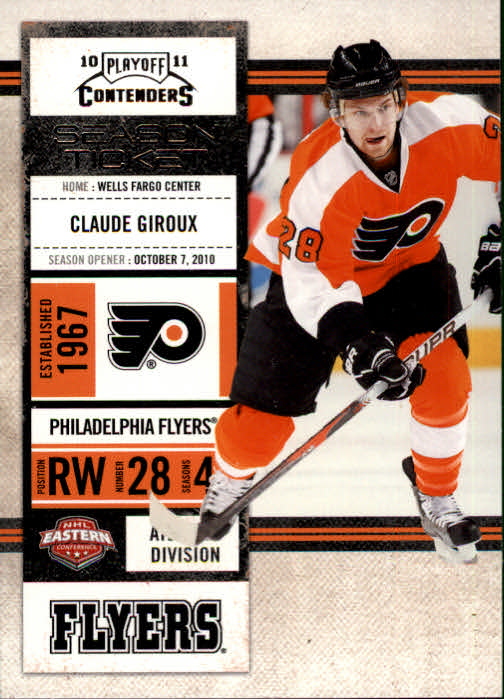 2010-11 Playoff Contenders #14 Claude Giroux