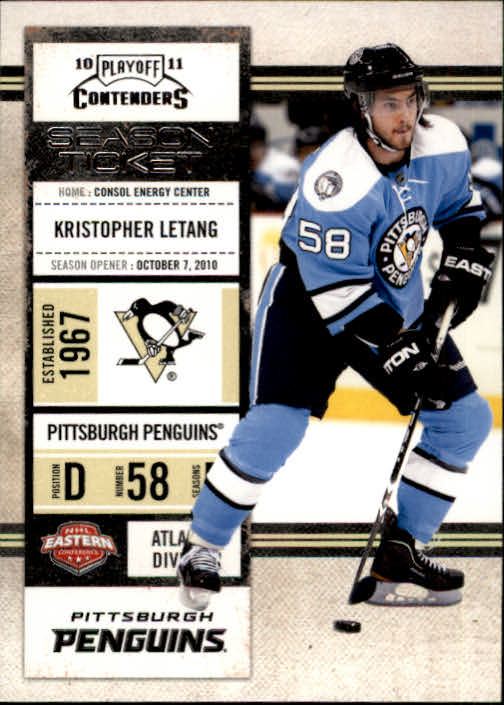 2010-11 Playoff Contenders #15 Kristopher Letang