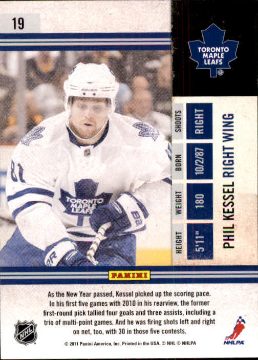 2010-11 Playoff Contenders #19 Phil Kessel back image