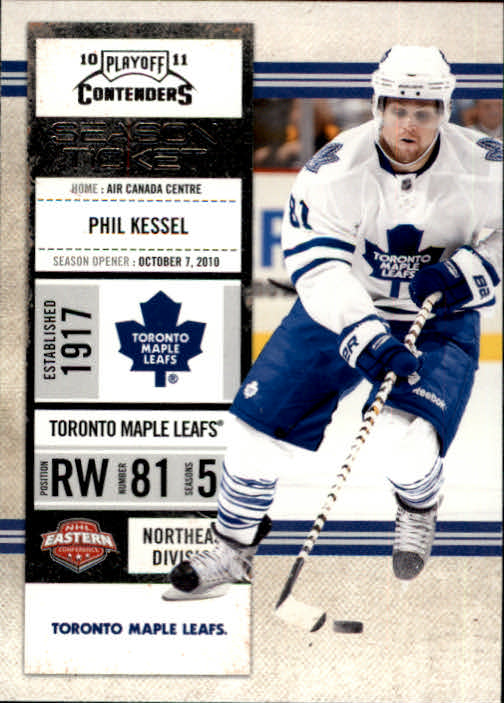 2010-11 Playoff Contenders #19 Phil Kessel