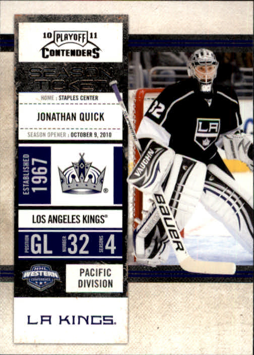 2010-11 Playoff Contenders #29 Jonathan Quick