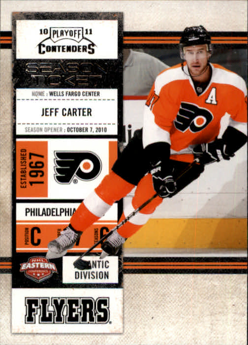 2010-11 Playoff Contenders #34 Jeff Carter