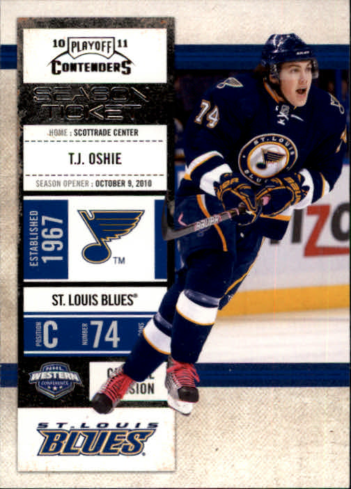 2010-11 Playoff Contenders #57 T.J. Oshie