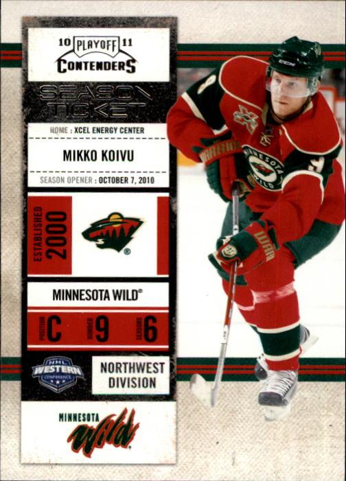 2010-11 Playoff Contenders #69 Mikko Koivu