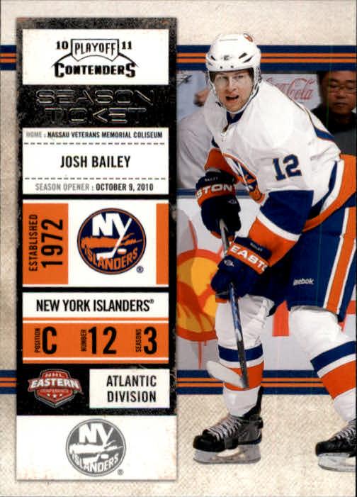 2010-11 Playoff Contenders #91 Josh Bailey