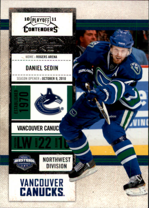 2010-11 Playoff Contenders #99 Daniel Sedin