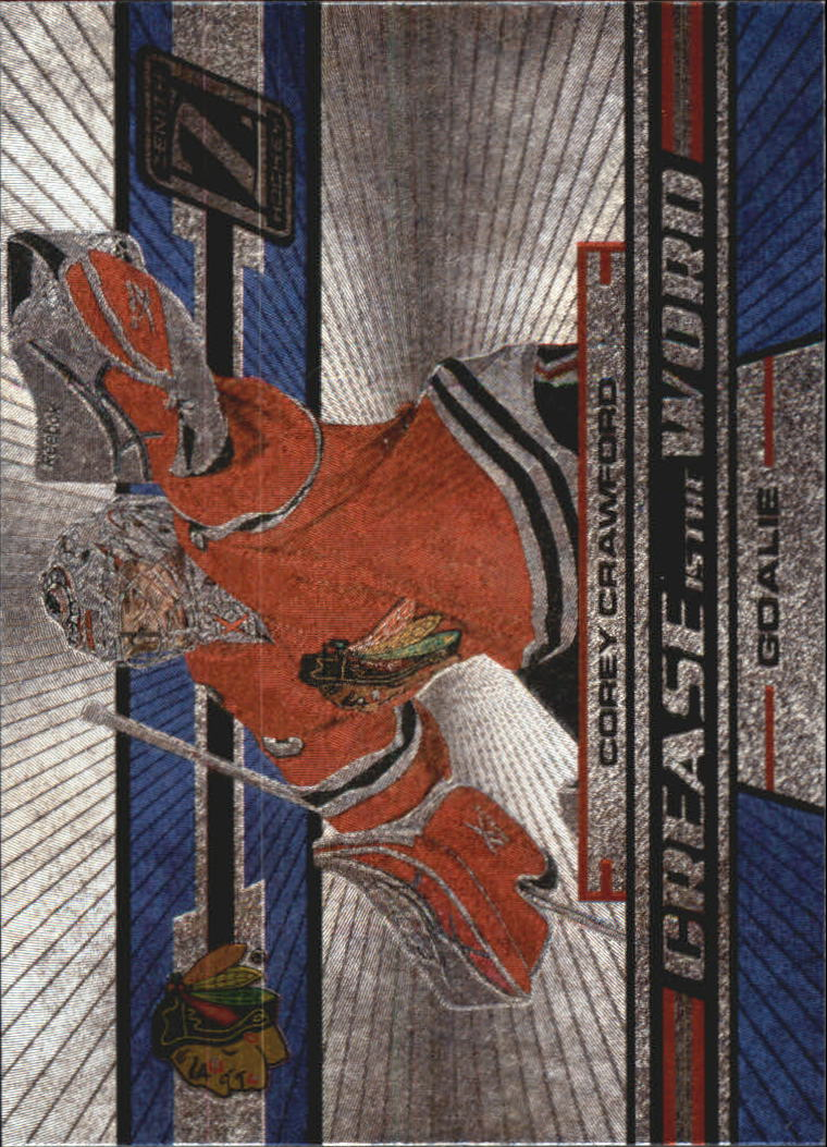 2010-11 Zenith Crease Is The Word #10 Corey Crawford