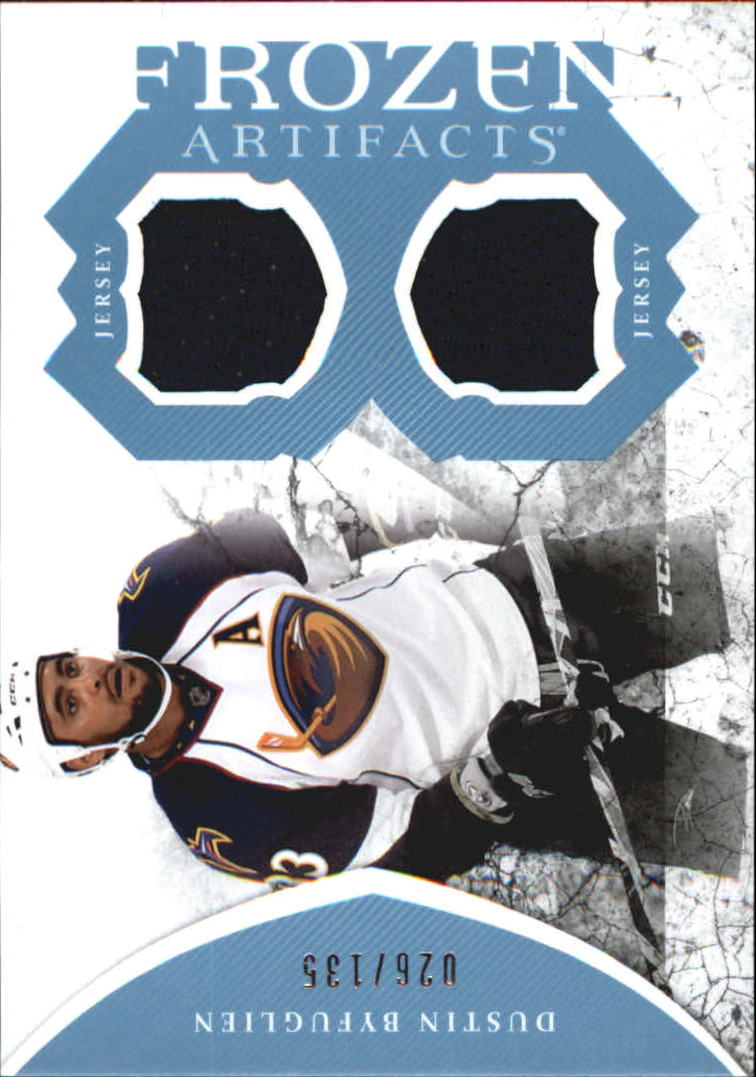 2011-12 Artifacts Frozen Artifacts Jerseys Blue #FABY Dustin Byfuglien