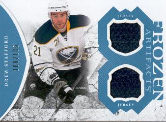 2011-12 Artifacts Frozen Artifacts Jerseys Blue #FADS Drew Stafford