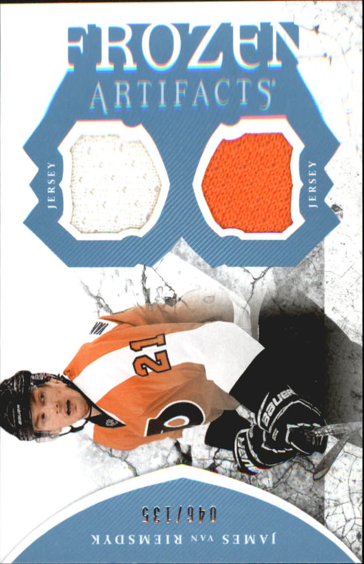 2011-12 Artifacts Frozen Artifacts Jerseys Blue #FAJV James van Riemsdyk