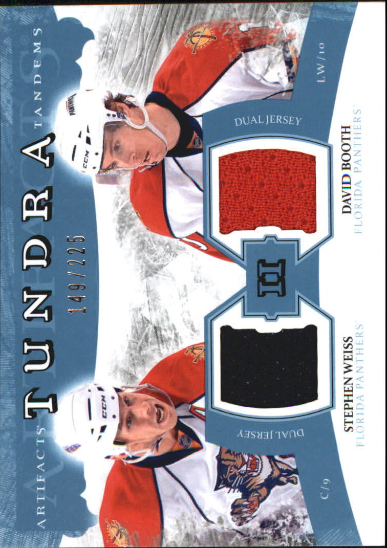 2011-12 Artifacts Tundra Tandems Jerseys Blue #TT2WB David Booth/Stephen Weiss
