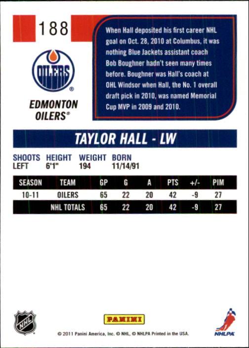 2011-12 Score #188 Taylor Hall back image