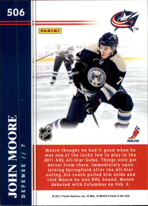 2011-12 Score #506 John Moore HR RC back image