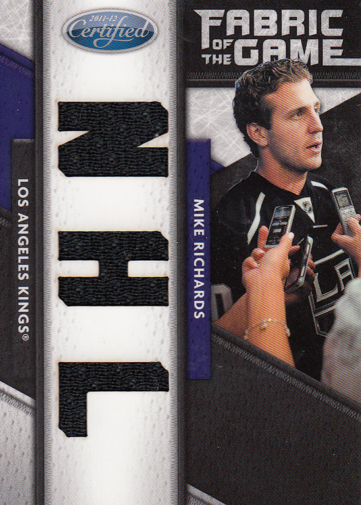 2011-12 Certified Fabric of the Game NHL Die Cut #105 Mike Richards