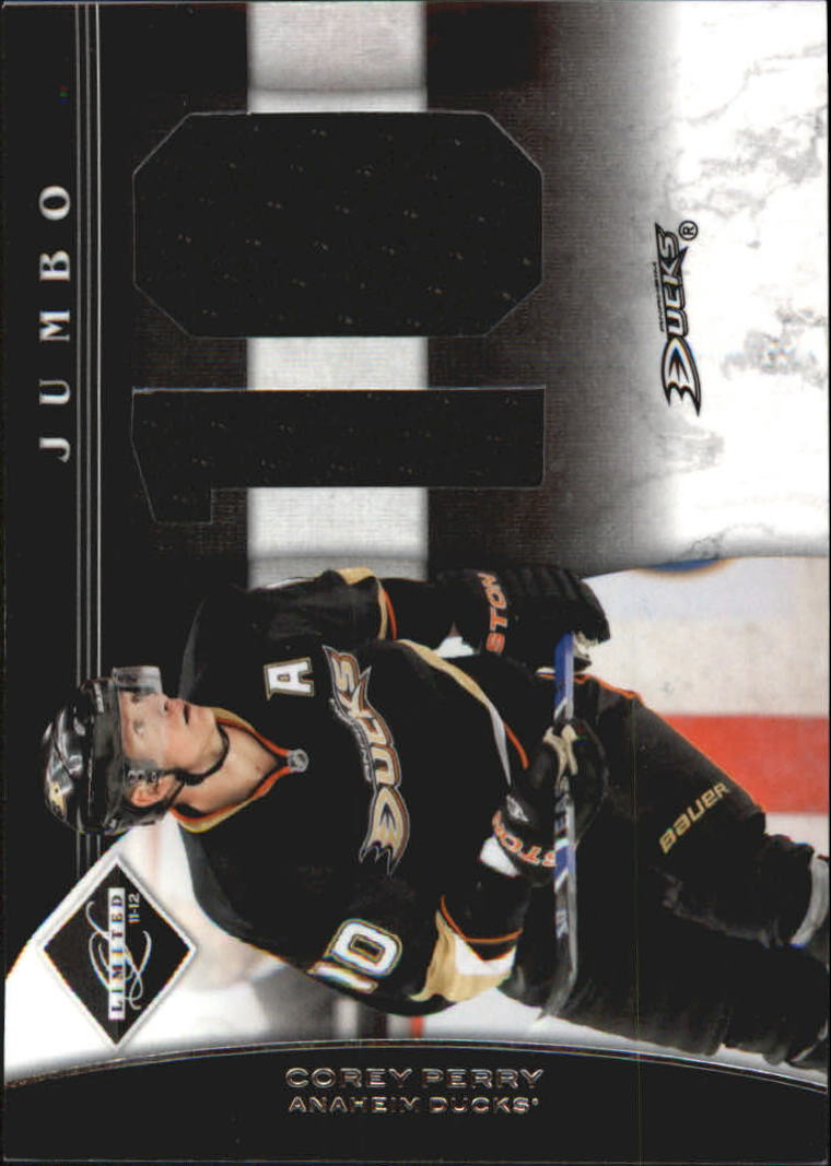 2011-12 Limited Jumbo Materials Jersey Numbers #3 Corey Perry/49