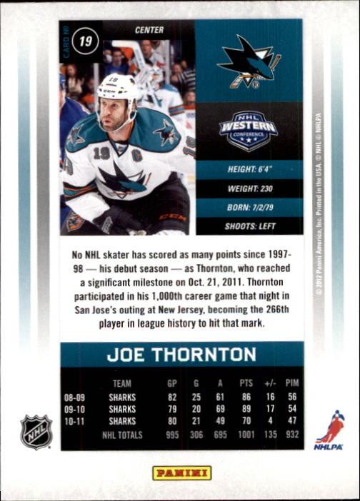 2011-12-Panini-Contenders-Hockey-Cards-Pick-From-List thumbnail 39