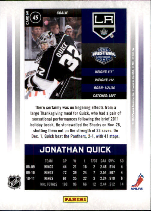 2011-12-Panini-Contenders-Hockey-Cards-Pick-From-List thumbnail 91