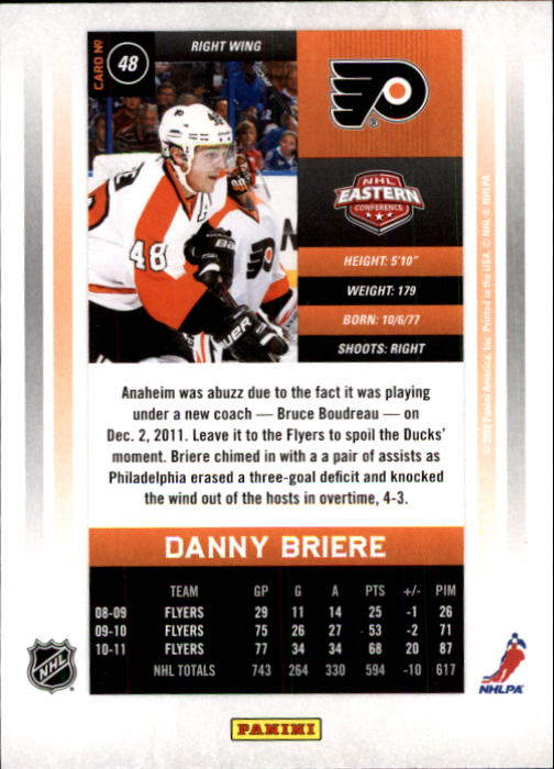 2011-12-Panini-Contenders-Hockey-Cards-Pick-From-List thumbnail 97