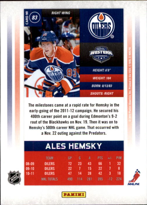 2011-12-Panini-Contenders-Hockey-Cards-Pick-From-List thumbnail 167