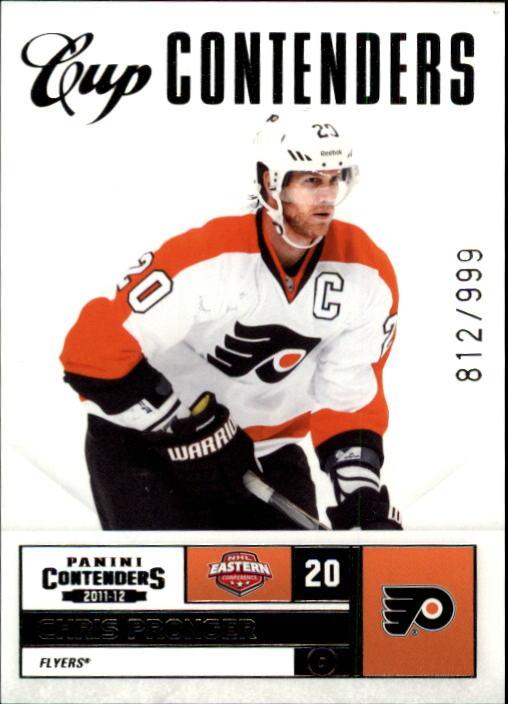 2011-12 Panini Contenders #124 Chris Pronger CC