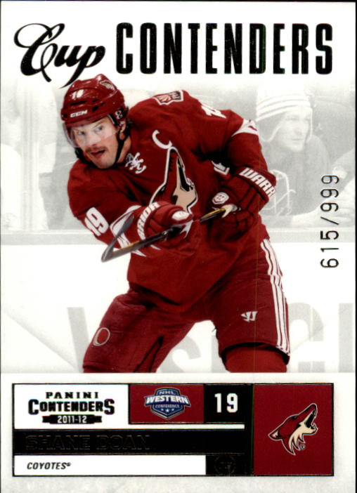 2011-12 Panini Contenders #125 Shane Doan CC