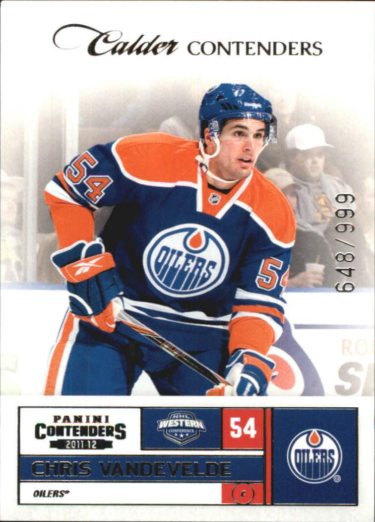 2011-12 Panini Contenders #168 Chris VandeVelde RC