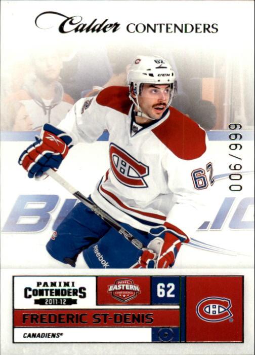 2011-12 Panini Contenders #174 Frederic St-Denis RC