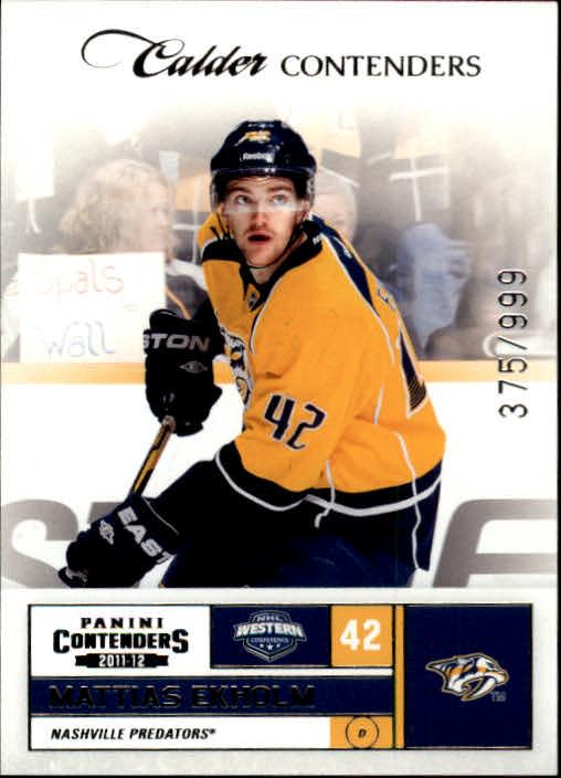 2011-12 Panini Contenders #176 Mattias Ekholm RC