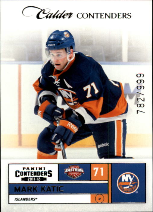 2011-12 Panini Contenders #180 Mark Katic RC