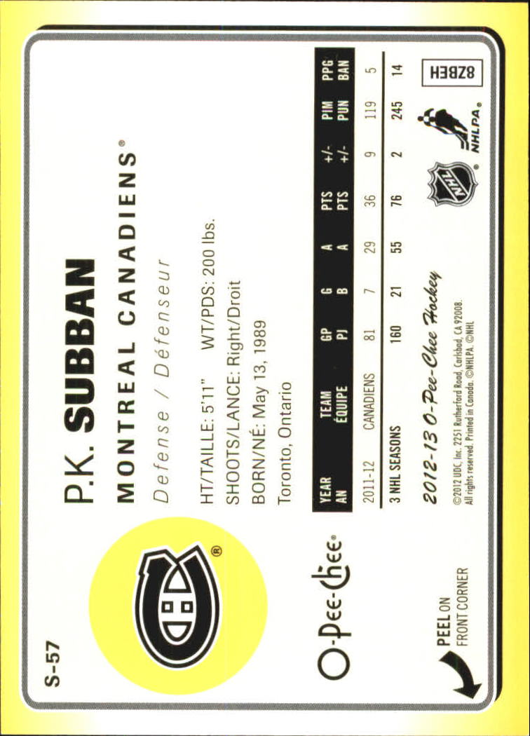 2012-13-O-Pee-Chee-Stickers-Hockey-Card-Pick miniature 27