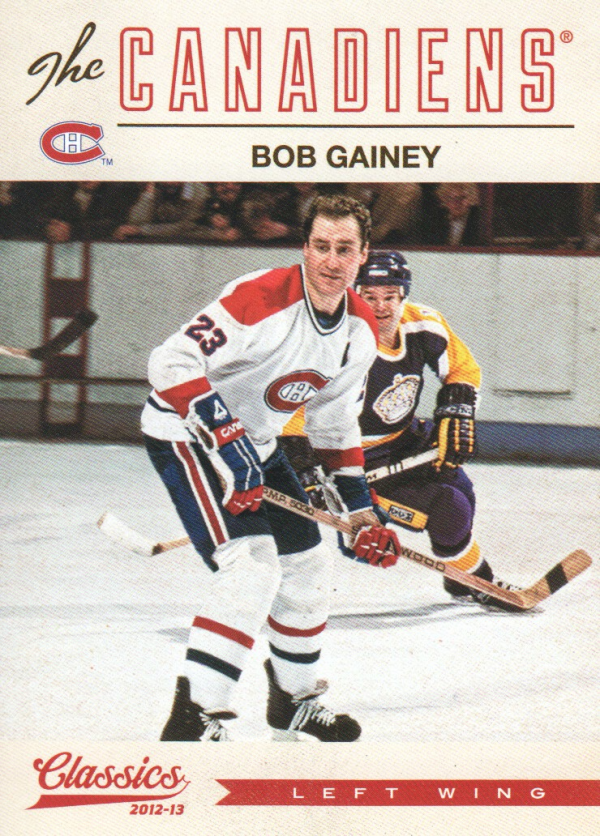 2012-13 Classics Signatures #168 Bob Gainey