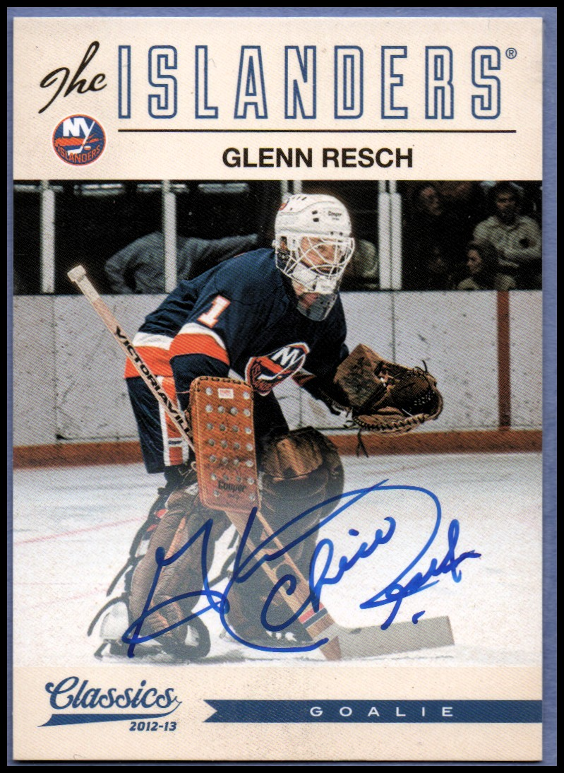 2012-13 Classics Signatures Autographs #64 Glenn Resch/(inserted in 2013-14 Contenders)