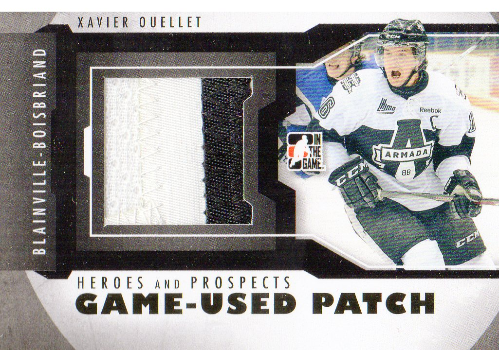 2012-13 ITG Heroes and Prospects Jersey Patches #M23 Xavier Ouellet