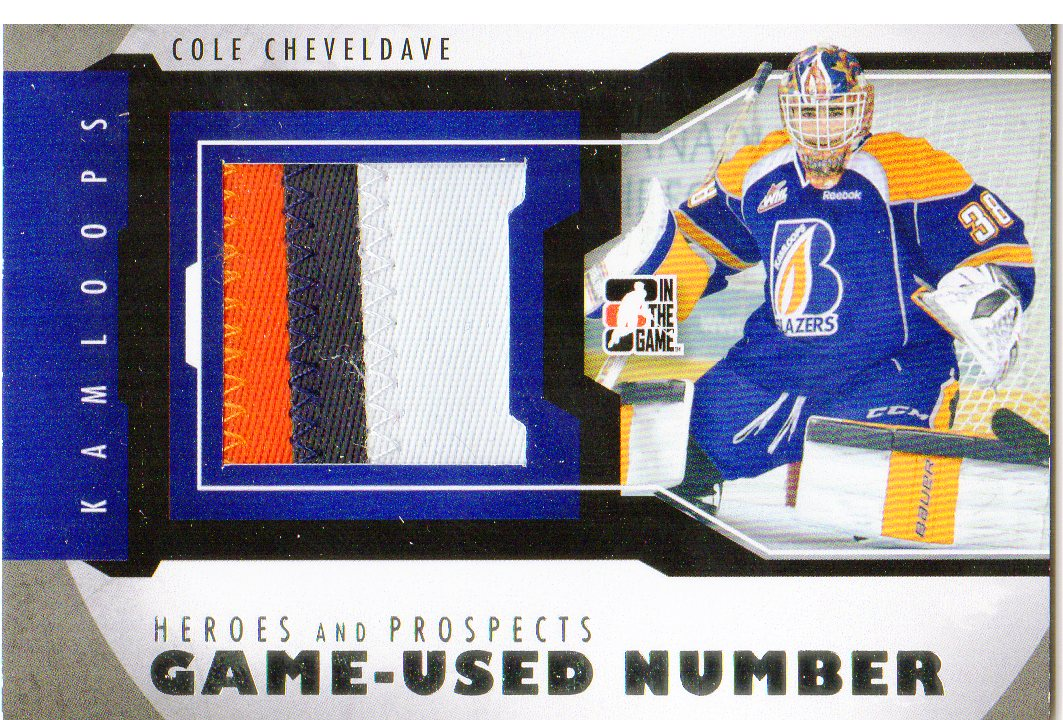 2012-13 ITG Heroes and Prospects Jersey Number Silver #M07 Cole Cheveldave