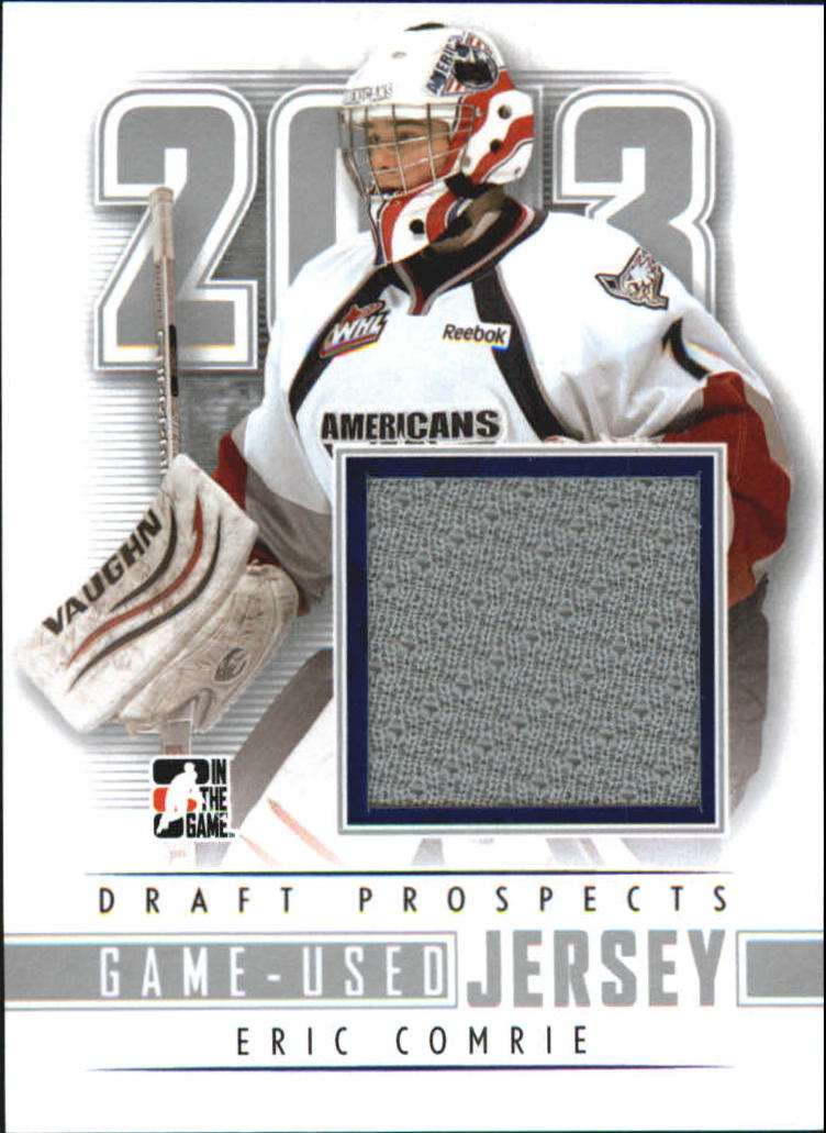 2012-13 ITG Draft Prospects Jerseys #M07 Eric Comrie�