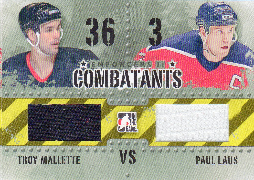 2013-14 ITG Enforcers Combatants Jersey Duals #C12 Troy Mallette/Paul Laus