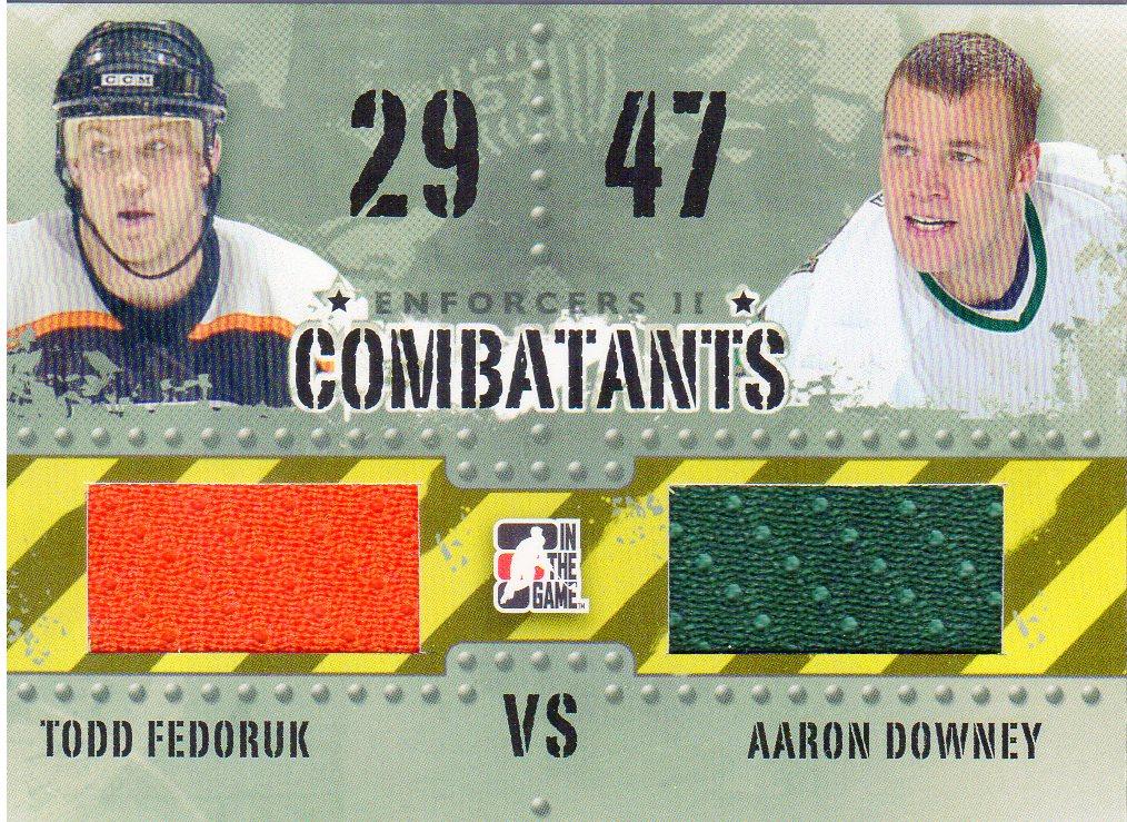 2013-14 ITG Enforcers Combatants Jersey Duals #C26 Todd Fedoruk/Aaron Downey