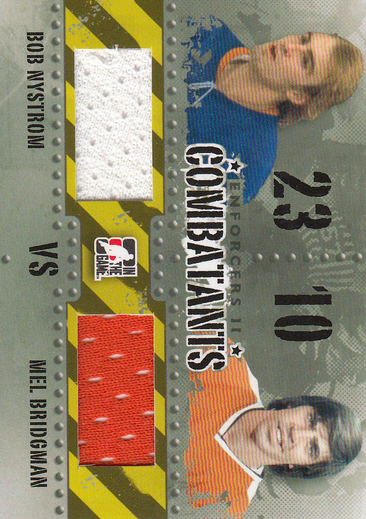 2013-14 ITG Enforcers Combatants Jersey Duals #C28 Bob Nystrom/Mel Bridgman