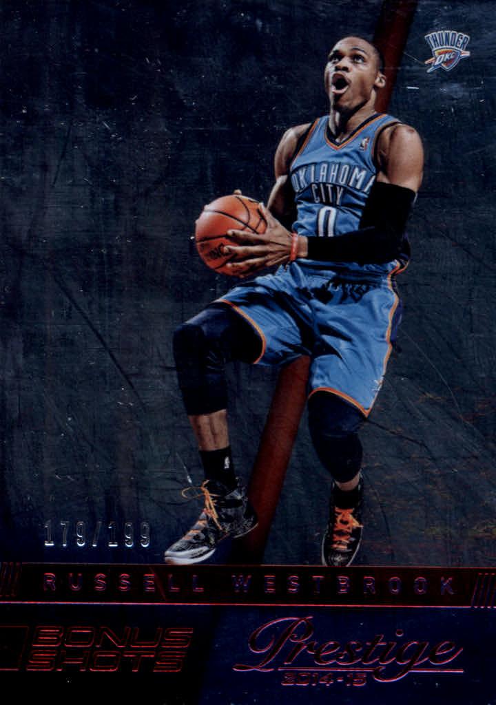 8efc4b4cc6e9a1 2014-15 Prestige Plus Bonus Shots Red  41 Russell Westbrook