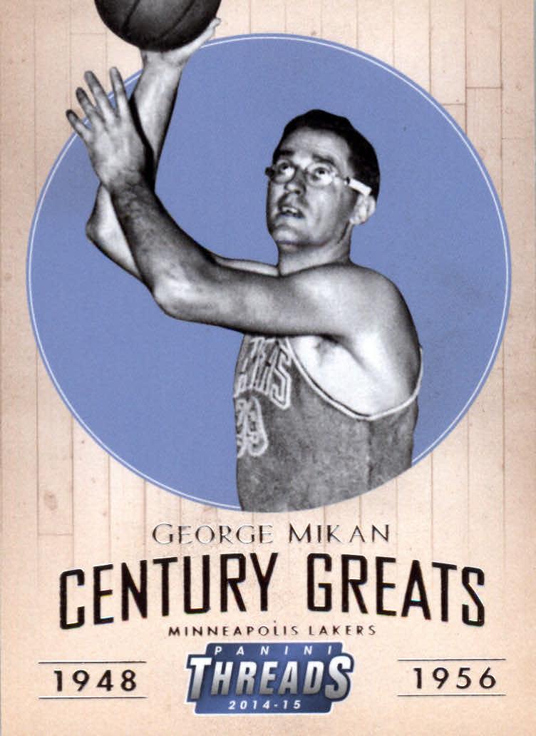 2014-15 Panini Threads Century Greats #20 George Mikan