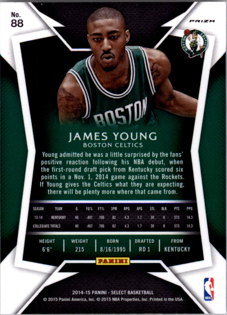 2014-15 Select Prizms Silver #88 James Young CON back image