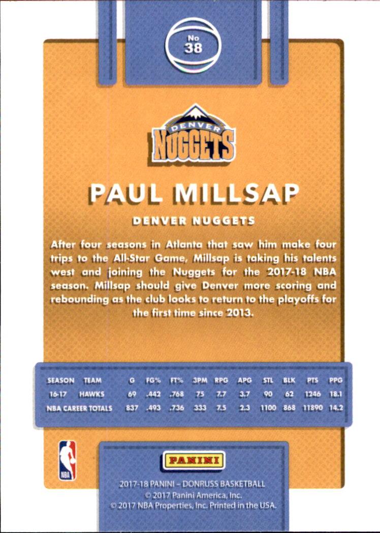 2017-18 Donruss #38 Paul Millsap back image