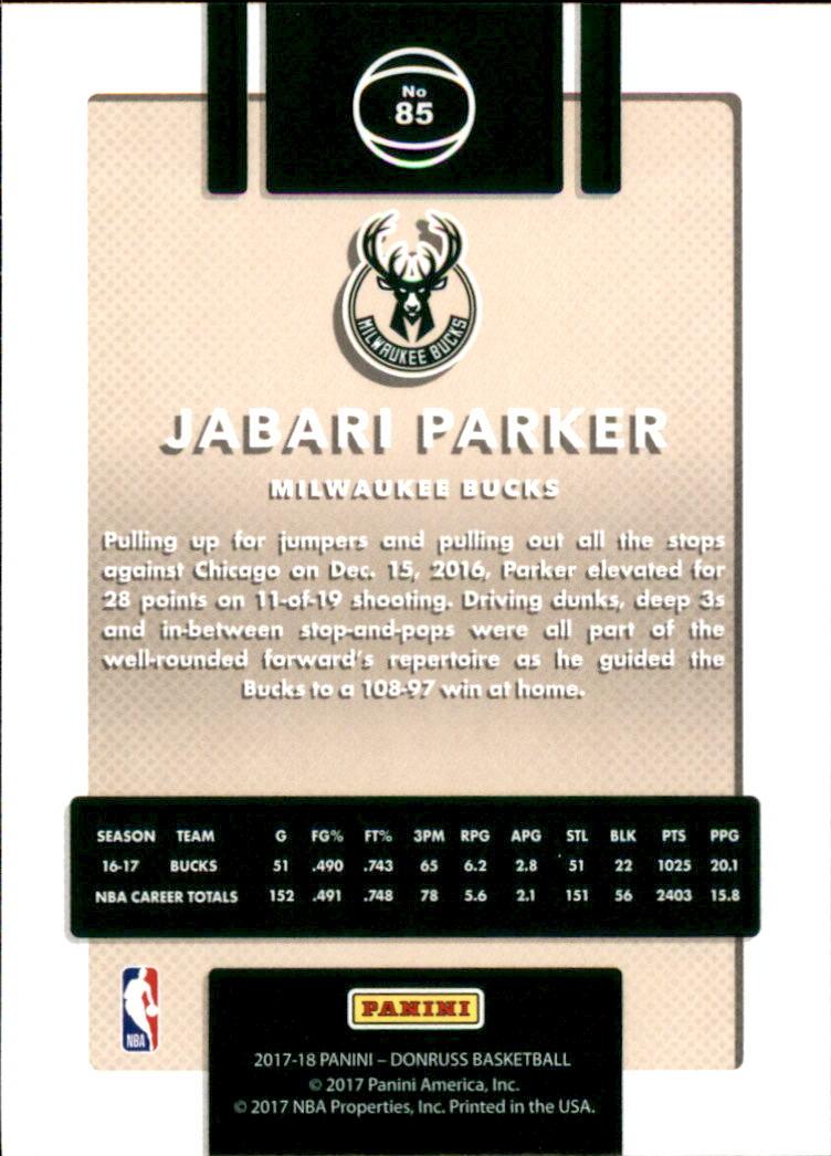2017-18 Donruss #85 Jabari Parker back image
