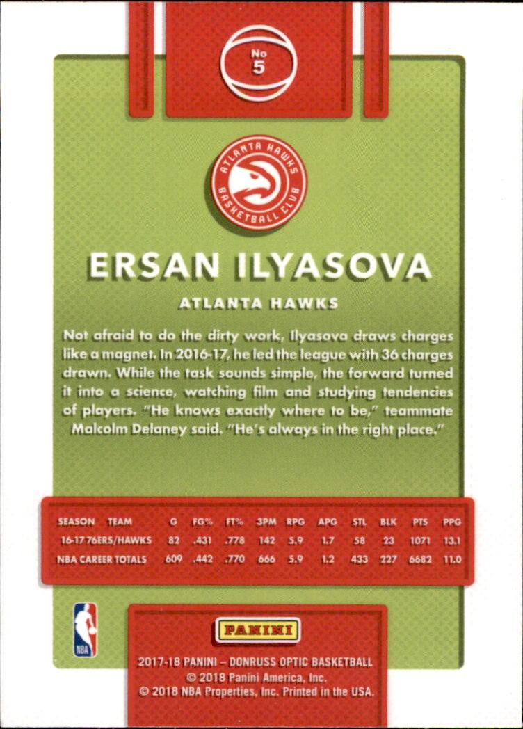 2017-18 Donruss Optic #5 Ersan Ilyasova back image