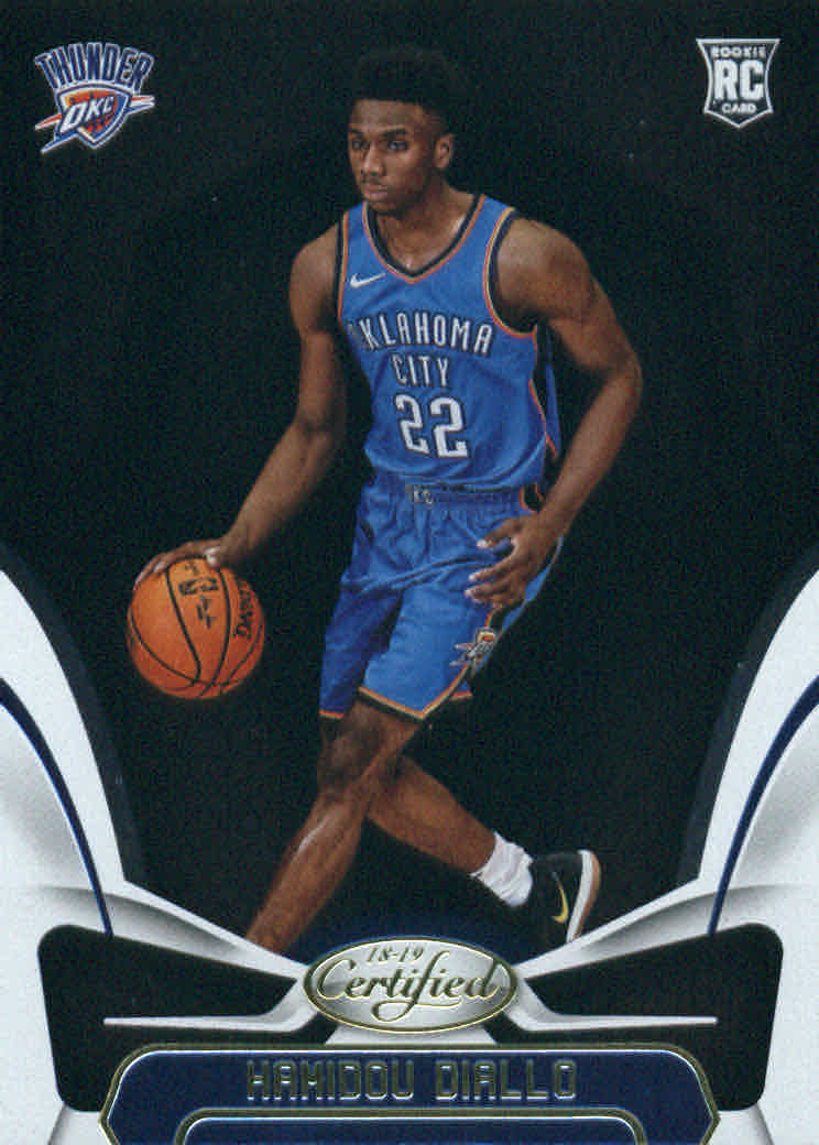 half off 89868 71bbb Details about 2018-19 Certified Basketball #192 Hamidou Diallo RC Oklahoma  City Thunder