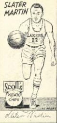1950-51 Lakers Scott's #8 Slater Martin