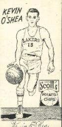 1950-51 Lakers Scott's #11 Kevin O'Shea