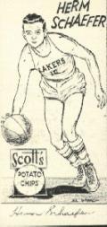 1950-51 Lakers Scott's #13 Herm Schaeffer