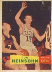 1957-58 Topps #19 Tom Heinsohn RC
